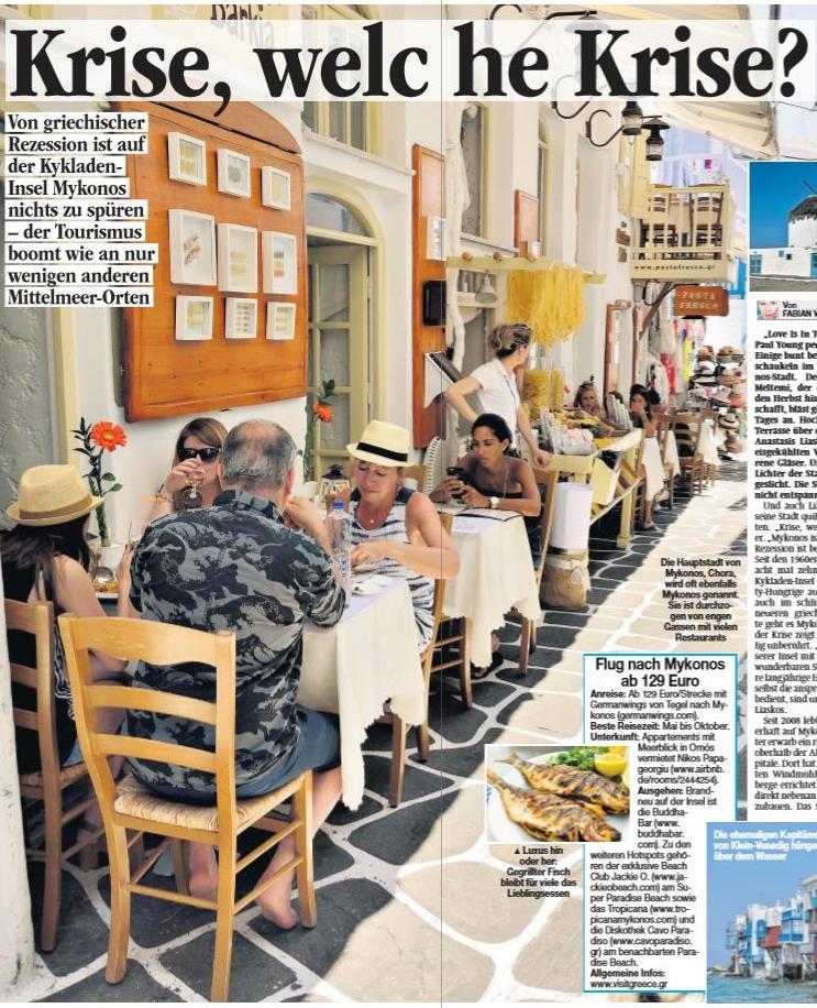 Mykonos: Krise, welche Krise?